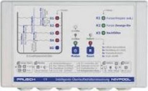 Schwallwassersteuerung für Überlaufbehälter